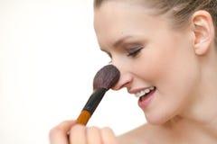 Het Gezicht van de vrouw en het concept van de Make-up Royalty-vrije Stock Afbeelding