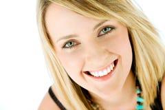 Het gezicht van de vrouw het glimlachen stock foto