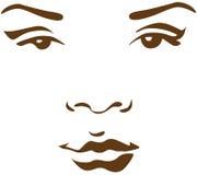 Het gezicht van de vrouw in lijn Stock Fotografie