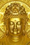 Het gezicht van de Vrouw van Boedha Stock Afbeelding