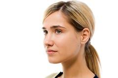 Het gezicht van de vrouw zonder schoonheidsmiddel Royalty-vrije Stock Fotografie