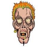 Het gezicht van de zombie Stock Foto