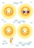 Het gezicht van de zon Stock Afbeeldingen