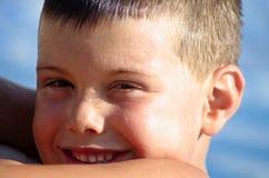 Het gezicht van de zwemmer Stock Afbeeldingen
