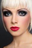 Het gezicht van Doll Stock Foto's