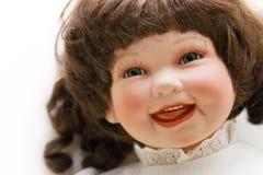 Het gezicht van Doll Royalty-vrije Stock Afbeeldingen