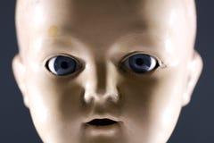 Het gezicht van Doll Stock Fotografie
