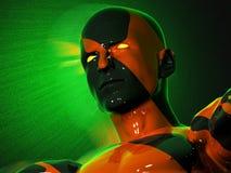 Het gezicht van een abstracte kleurrijke zwart-rode mens Royalty-vrije Stock Afbeelding