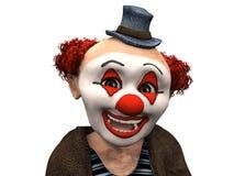 Het gezicht van een glimlachende clown. Royalty-vrije Stock Afbeeldingen