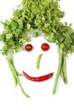 Het gezicht van groenten royalty-vrije stock foto