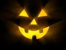 Het gezicht van Halloween met gloeiende stralen van licht Royalty-vrije Stock Fotografie