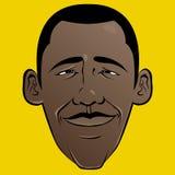 Het Gezicht van het Beeldverhaal van Obama van Barack Stock Afbeelding