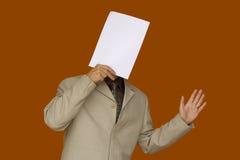 Het gezicht van het document hello Stock Afbeelding