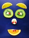Het gezicht van het fruit Stock Foto