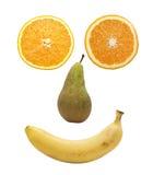 Het gezicht van het fruit over wit stock afbeelding