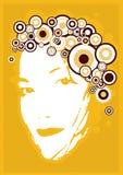 Het gezicht van het jonge meisje. Vector royalty-vrije illustratie