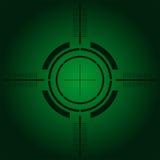 Het gezicht van het kanon over groene gradiënt Royalty-vrije Stock Afbeelding