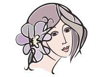 Het gezicht van het meisje vector illustratie