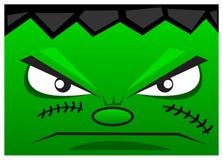 Het gezicht van het monster Stock Afbeeldingen