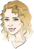Het gezicht van het mooie meisje. Vector illustratie Royalty-vrije Stock Fotografie