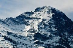 Het Gezicht van het Noorden van Eiger, Zwitserse Alpen Stock Afbeelding