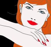 Het gezicht van het rode hoofd mooie meisje Royalty-vrije Stock Foto's