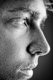 Het gezicht van het zweet Stock Afbeeldingen