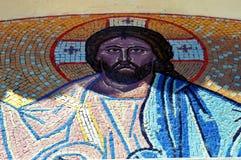 Het gezicht van Jesus het mozaïek stock afbeeldingen