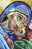 Het gezicht van Marie het mozaïek Royalty-vrije Stock Afbeeldingen