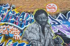 Het gezicht van Montreal van de straatkunst Royalty-vrije Stock Foto's