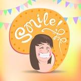 Het gezicht van Smiley Stock Fotografie