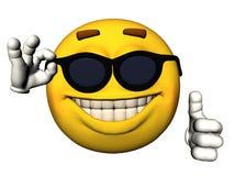 Het gezicht van Smiley met omhoog duimen Stock Fotografie