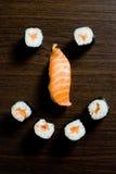Het gezicht van sushi Stock Afbeelding