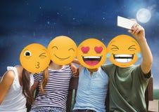 het gezicht van vriendenemoji royalty-vrije illustratie