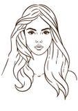 Het gezicht van vrouwen `s Royalty-vrije Illustratie
