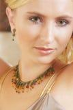 Het gezichtsclose-up van de zachte vrouw Royalty-vrije Stock Fotografie
