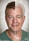 Het gezichtsconcept van de leeftijd
