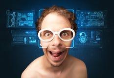 Het gezichtsconcept van het erkenningssysteem stock fotografie