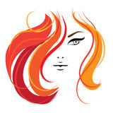 Het gezichtsmalplaatje van de vrouw voor uw ontwerp Royalty-vrije Stock Afbeelding