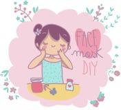 Het gezichtsmasker doet het zelf Royalty-vrije Stock Afbeeldingen