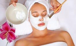 Het gezichtsmasker van het kuuroord Stock Foto