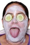 Het gezichtspak van de komkommer Stock Fotografie