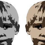 Het gezichtstekening van de jongen Stock Foto's