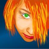Het gezichtsvector van Adelina Royalty-vrije Stock Foto's