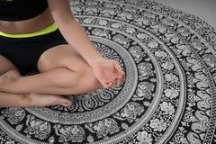 Het gezoem binnen aan lotusbloem stelt royalty-vrije stock foto's
