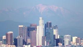 Het Gezoem van de de Winterhorizon van Los Angeles uit stock video
