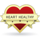 Het Gezond voedsel van het hart en productetiket of sticker Stock Foto