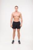 Het gezonde atletische mens stellen royalty-vrije stock foto's