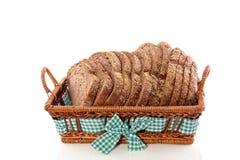 Het gezonde bruine brood van plakken Stock Foto