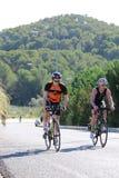Het gezonde de oefening van de triatlon triathlete sport cirkelen Royalty-vrije Stock Fotografie